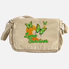 Lyme Survivor Butterflies Messenger Bag