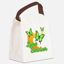 Lyme Survivor Butterflies Canvas Lunch Bag