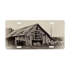 Hay Barn Aluminum License Plate