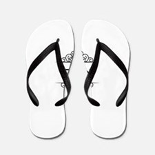 Alex name in Hebrew letters Flip Flops