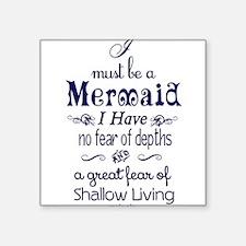 """Unique Mermaids Square Sticker 3"""" x 3"""""""