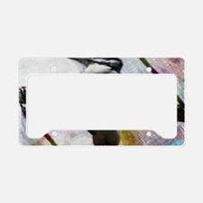elegant nature watercolor woo License Plate Holder