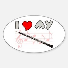 I *HEART* My Oboe Oval Decal