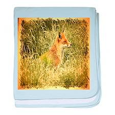 nature wildlife red fox baby blanket