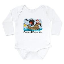 Cute Jolly roger Long Sleeve Infant Bodysuit