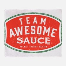 Team Awesome Sauce Throw Blanket