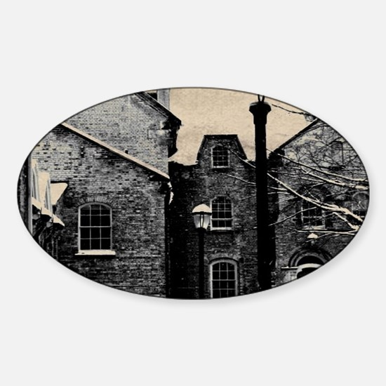 vintage church street light Decal