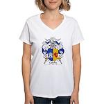 Calella Family Crest Women's V-Neck T-Shirt