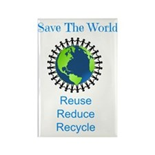 save the world Rectangle Magnet
