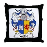 Calella Family Crest Throw Pillow
