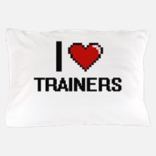I love Trainers digital design Pillow Case