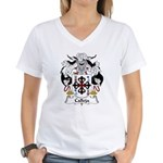 Calleja Family Crest Women's V-Neck T-Shirt