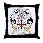 Calleja Family Crest Throw Pillow