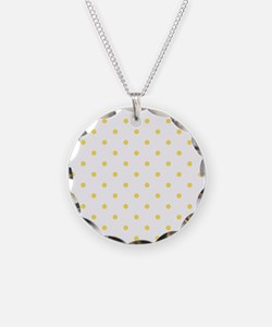 White & Canary Yellow Polka Necklace