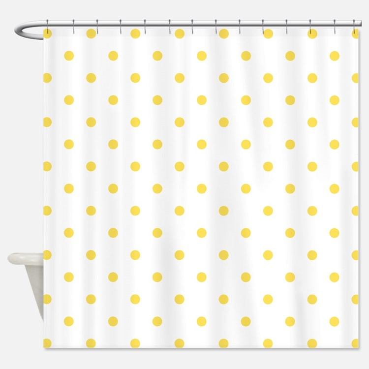 Yellow Polka Dot Shower Curtains Yellow Polka Dot Fabric Shower Curtain Liner