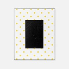 Yellow, Canary: Polka Dots Pattern ( Picture Frame