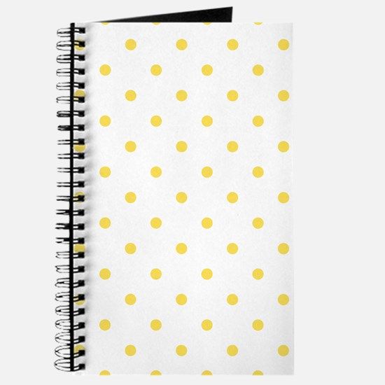 Yellow, Canary: Polka Dots Pattern (Small) Journal