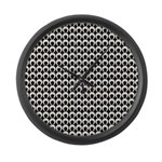 Retro Mod Pattern Large Wall Clock