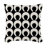 Retro Mod Pattern Woven Throw Pillow
