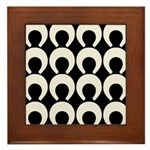 Retro Mod Pattern Framed Tile