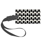 Retro Mod Pattern Large Luggage Tag