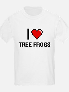 I love Tree Frogs digital design T-Shirt