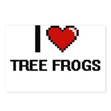 I love Tree Frogs digital Postcards (Package of 8)