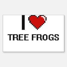 I love Tree Frogs digital design Decal