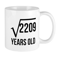 47 Years Old Square Root Mugs