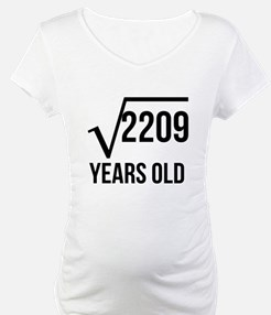 47 Years Old Square Root Shirt