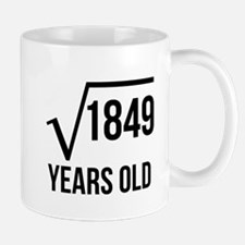 43 Years Old Square Root Mugs