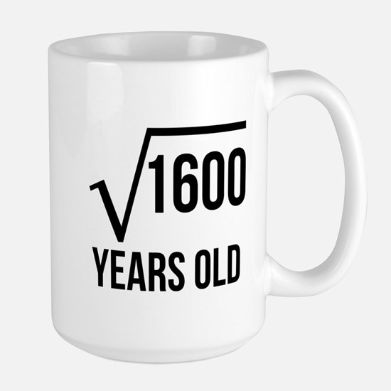 40 Years Old Square Root Mugs