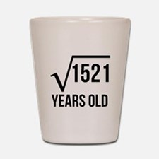 39 Years Old Square Root Shot Glass