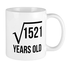 39 Years Old Square Root Mugs