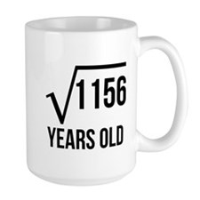 34 Years Old Square Root Mugs