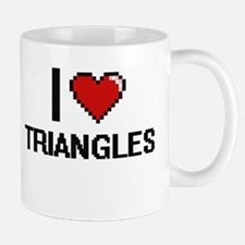 I love Triangles digital design Mugs