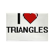 I love Triangles digital design Magnets