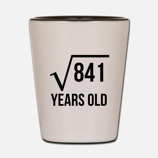29 Years Old Square Root Shot Glass