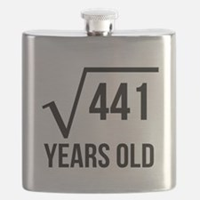 21 Years Old Square Root Flask