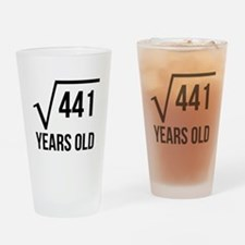 21 Years Old Square Root Drinking Glass