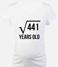21 Years Old Square Root Shirt
