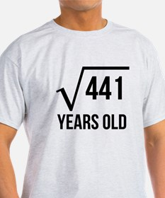 21 Years Old Square Root T-Shirt