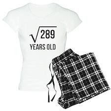 17 Years Old Square Root Pajamas