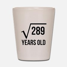 17 Years Old Square Root Shot Glass
