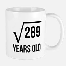 17 Years Old Square Root Mugs