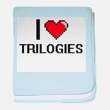 I love Trilogies digital design baby blanket