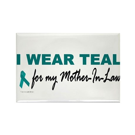 I Wear Teal For My Mother-In-Law 2 Rectangle Magne