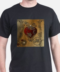 Steampunk, awesome heart T-Shirt