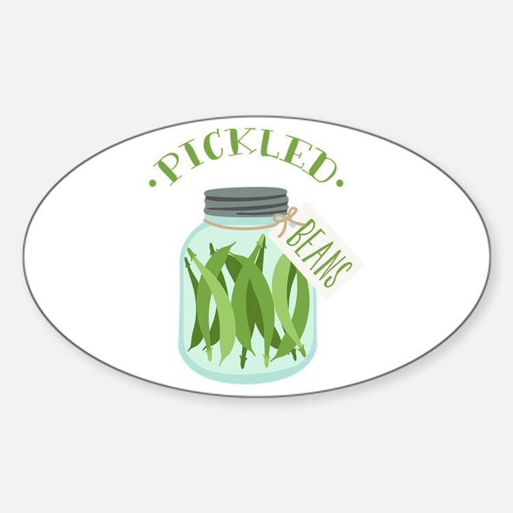 Pickled Green Beans Jar Decal