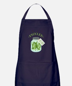 Pickled Green Beans Jar Apron (dark)
